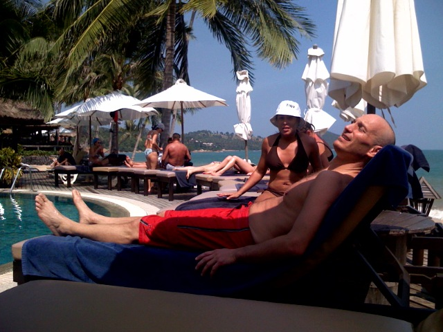 Poolside in Koh Samui Thailand