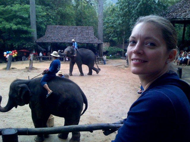 Kim at the Chiang Mai Elephant Camp